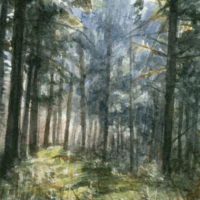 'Forest', 10x15 cm, watercolor painting (sold)