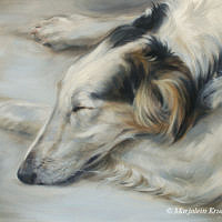 'Borzoi'- dog art, 30x24 cm, oil painting (sold)