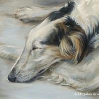 'Borzoi'- dog art, 30x24 cm, oil painting (sold)