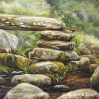 'Dartmeet'- wren, 20x20 cm, oil painting, (for sale)