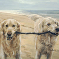 'Golden beach', 60x35 cm, oil painting (sold/commission)