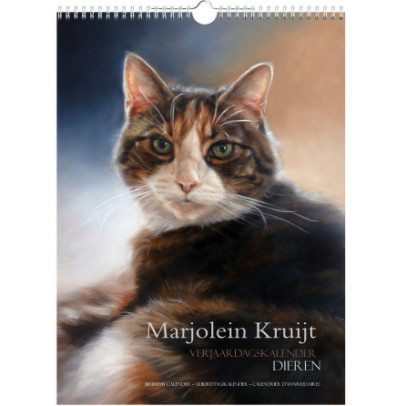 Birthday calender by Marjolein Kruijt animal artist