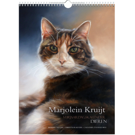 Birthday calendar by Marjolein Kruijt animal artist