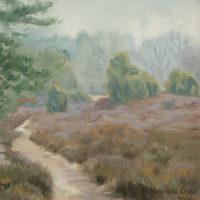 'Lheebroekerzand1'-Drenthe, 30x30 cm, oil painting (sold)