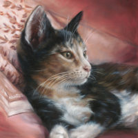 'Misu', 24x30 cm, oil painting - book COVER (sold)