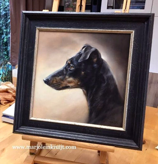 Custom made pet portraits by Animal artist Marjolein Kruijt