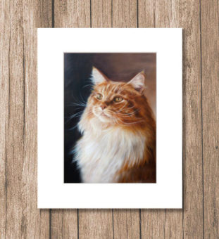 Art print Maine coon painting by Marjolein Kruijt
