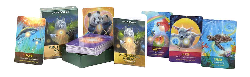 Archangel Animal Oracle cards - 44-Card Deck and Guidebook