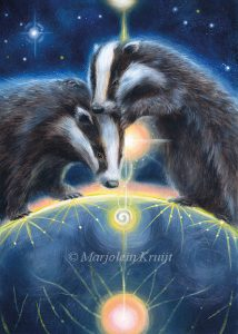 'Badger', oil painting (published as oracle card)