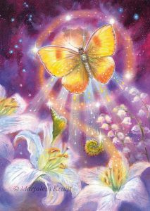 'Butterfly'-metamorphosis, oil painting (published as oracle card)