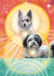 'Dog', oil painting (published as oracle card)