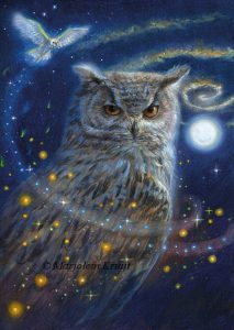 'Owl', oil painting (published as oracle card)