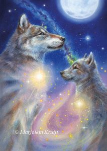 'Wolf', oil painting (published as oracle card)