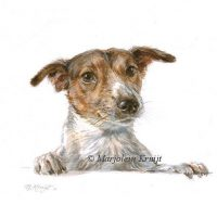 'Jack russel', miniature portrait , 10x10 cm (sold)