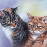 'Best friends' 24x30 cm, oil painting (sold)