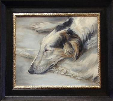 Dog portrait in commission by Marjolein Kruijt