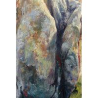 'Ridge stone'-Dolmen N-Yorkshire, 140x80 cm, oil painting (NFS)