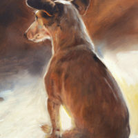 'Jack russell'- dog portrait, 24x30 cm, oil painting (sold)