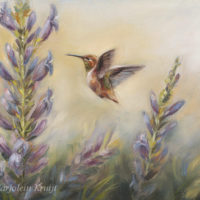 'Hummingbird', 24x18 cm, oil painting (for sale)