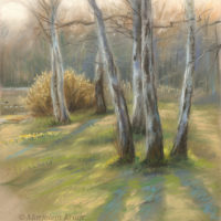 'Spring', 26x28 cm, pastel painting, (for sale)