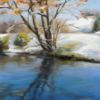 'Snow', 20x30 cm, oil painting, (for sale)