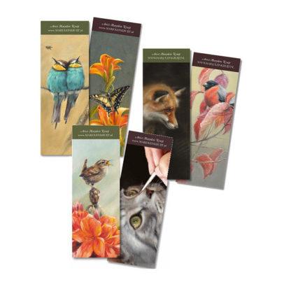 bookmarks set 1 - art by Marjolein Kruijt
