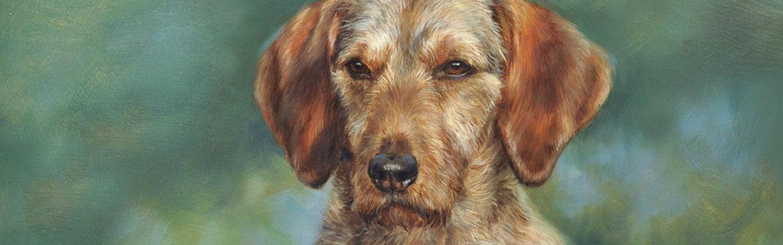 bezielde portretschilderijen in opdracht van honden door Marjolein Kruijt