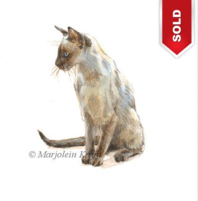 illustratie-siamees-schilderij-marjoleinkruijt-verkocht