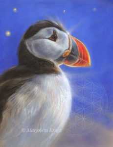 Animal sybolism - the puffin art by Marjolein Kruijt
