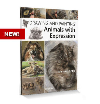 Book drawing and painting animals with expression by Marjolein Kruijt