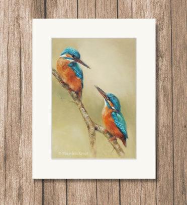Art print reproduction Kingfishers - Marjolein Kruijt