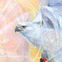 Close-up Illumined I, painting - animal symbolism