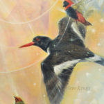 Close-up Illumined I, painting - animal symbolism