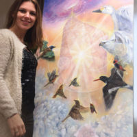 Marjolein Kruijt - vogel schilderij - dierensymboliek