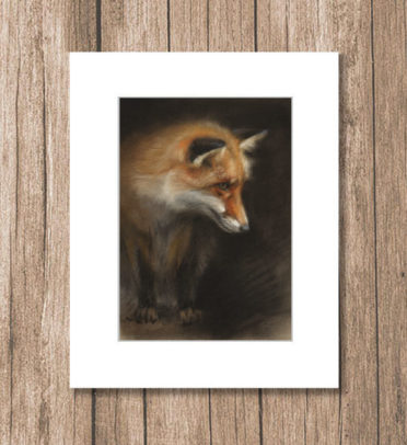Fox wildlife art, ArtPrint by Marjolein Kruijt
