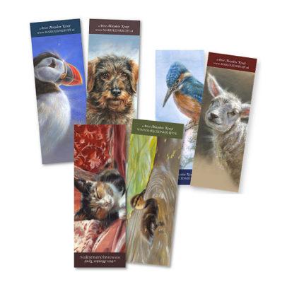 bookmarks set 2 - art by Marjolein Kruijt
