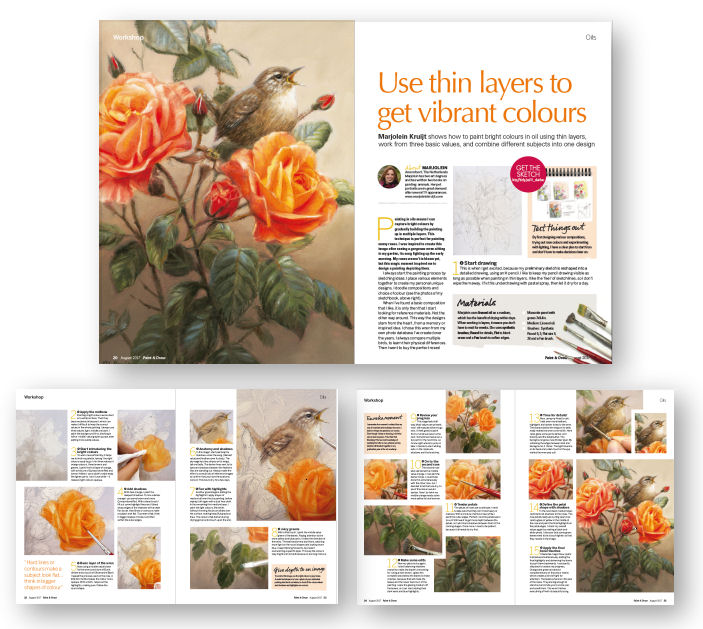 Paint & Draw magazine august 2017 - Marjolein Kruijt