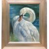 'Mute swan', 25x30 cm, oil painting