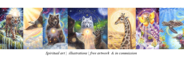 Spiritual paintings, oracle card illustrations, unicorn art by Marjolein Kruijt