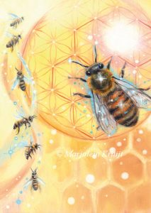 'Bee', oil painting (published as oracle card)