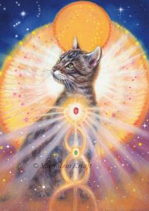 'Cat', oil painting (published as oracle card)