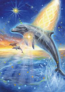 'Dolphin', oil painting (published as oracle card)