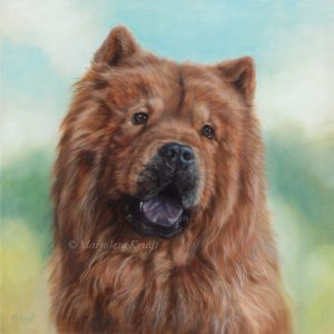 'Chowchow'- Hachi, 40x40 cm, oil painting (sold)