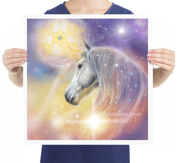 'Unicorn'- earth healing, artprint - spiritual art by Marjolein Kruijt
