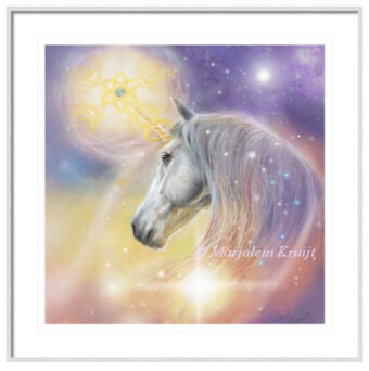 'Unicorn'- earth healing, artprint - spiritual art by Marjolein Kruijt