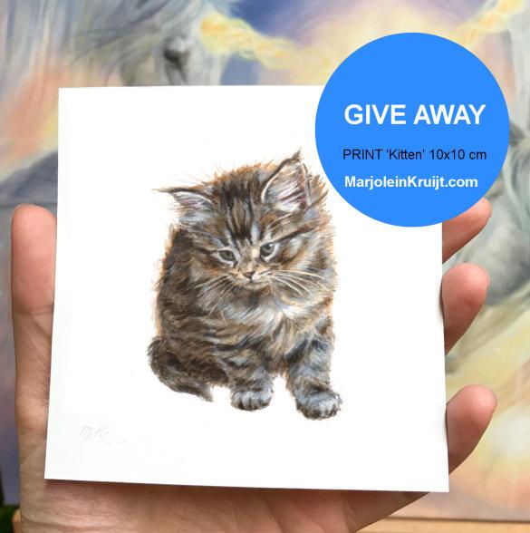 Verloting kitten kunst artprint