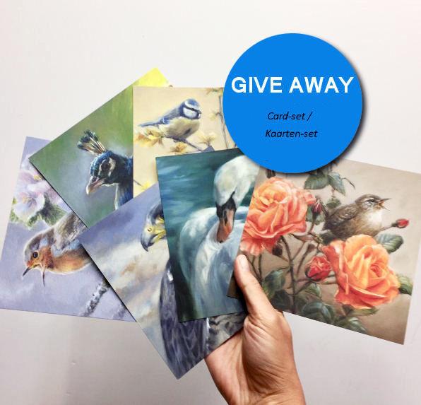 give-away verloting gratis vogelkunst kaarten