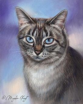 'Uthai', portrait in pastel (sold)
