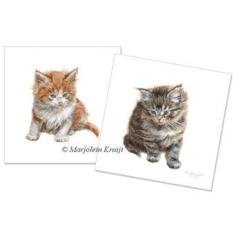 Set of two kitten artprints