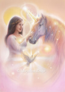 (01) Ontmoet je eigen eenhoorn - your personal unicorn - oracle card /orakelkaart